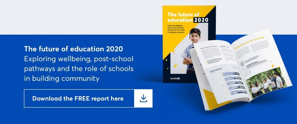 the future of education 2020. Exploring wellbeing, post-school pathways and the role of schools in building community. download the free report here